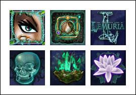 free The Land of Lemuria slot game symbols