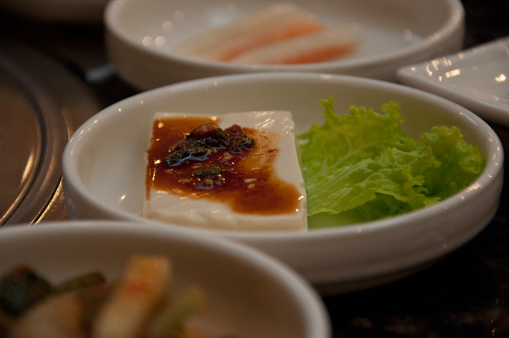 Korean Food side dish: Tofu ...