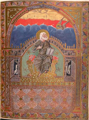 017-Imagen del evangelista Juan-Evangeliar  Codex Aureus - BSB Clm 14000-© Bayerische Staatsbibliothek