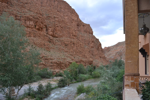 View from Le Vieux Chateau, in the Dades Gorges