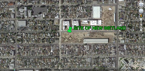 site of South LA Wetland Park (via Google Earth)