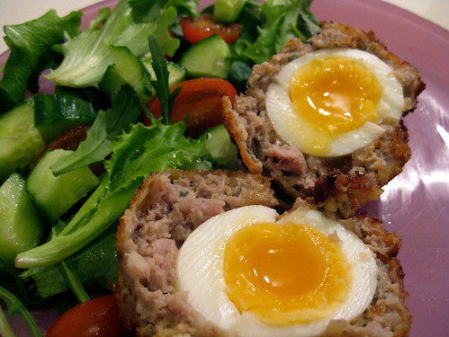 warm scotch eggs