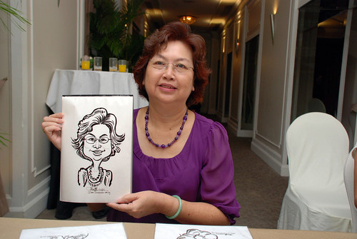 caricature live sketching for wedding dinner @ Goodwood Park Hotel - 8