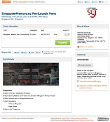 SingaporeMemory.sg Pre-Launch Party - Eventbrite
