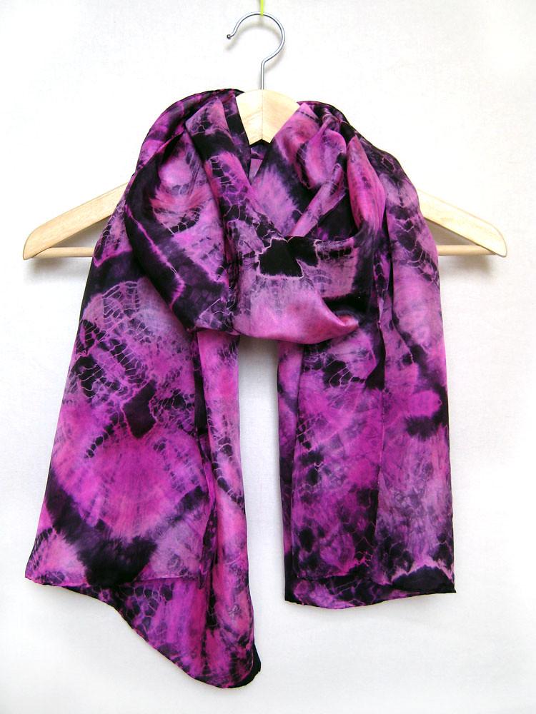 pink shibori scarf