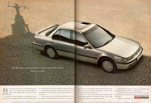Honda Accord 2.2 4WS Advert 1990