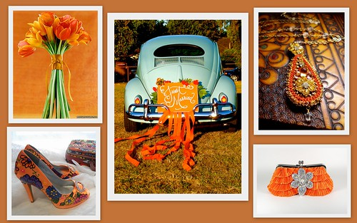Summer Wedding Color Inspiration: Orange by Nina Renee Designs