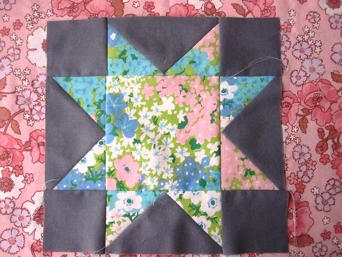 10/72 - Floral Explosion Block