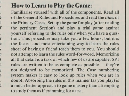 How to Learn to Play the Game