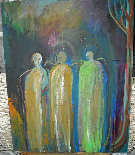 Night journey of three spirits by Lorie McCown
