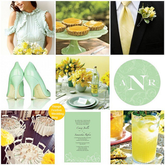 Mint Wedding Ideas: Mint And Yellow Spring Wedding Theme