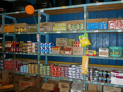Small store selling tinned and dry goods