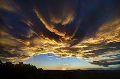 [フリー画像素材] 自然風景, 空, 雲, 朝焼け・夕焼け, 暗雲 ID:201203151200