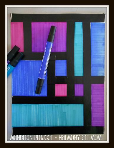Piet Mondrian Art Projects With Markers Harmony Fine Arts