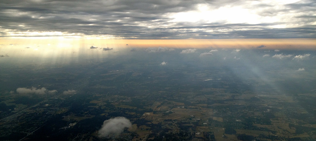 Somewhere over the midwest (I think)