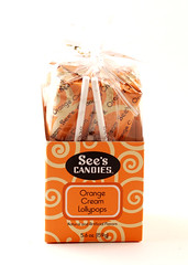 See's Orange Cream Lollypops