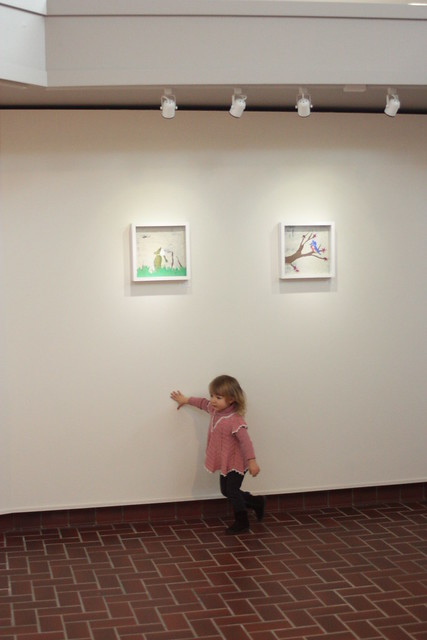 checking out the gallery