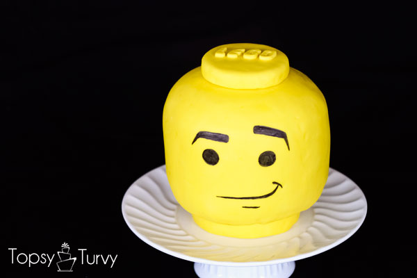 lego head cake tutorial