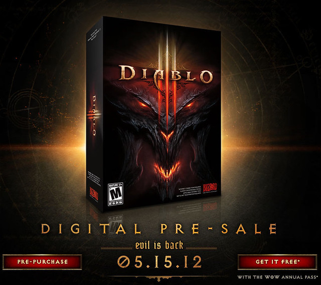 Diablo III Coming 15th May 2012