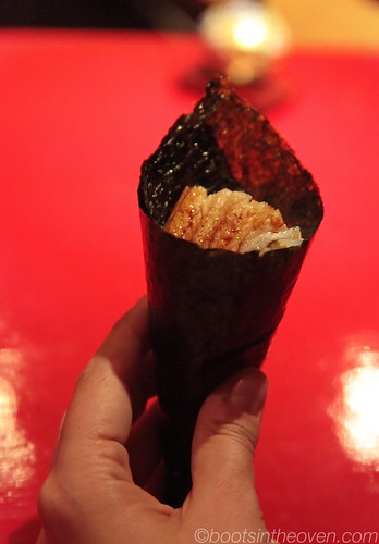 The most beautiful anago handroll i've ever eaten