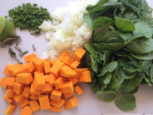 Vegetarian Curry - ingredients