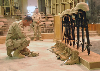 Seabees attend memorial service honoring seven killed in Iraq