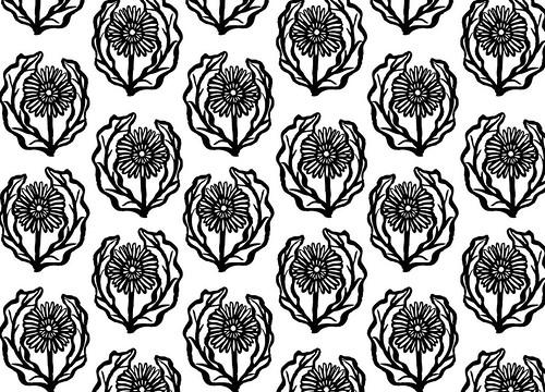 gerber daisy damask