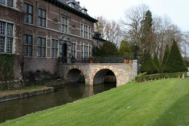 stone bridge over moat