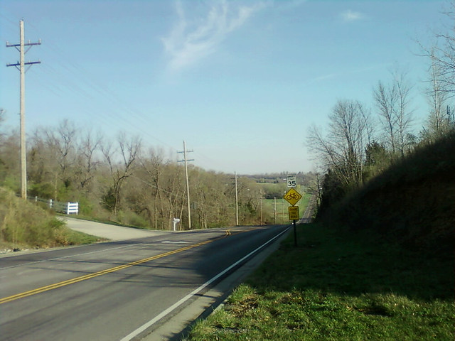 Top of the hill - northbound