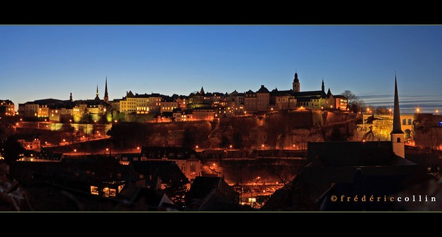 Luxembourg Grund - The old city at blue hour