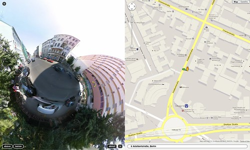 notlion.github.com/streetview-stereographic/#o=.022,.363,-.645,.673&z=1.623&mz=18&p=52.50029,13.41857