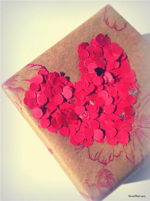 Confetti Heart Present