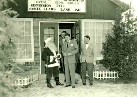 Ronald Reagan visits Santa Claus Land