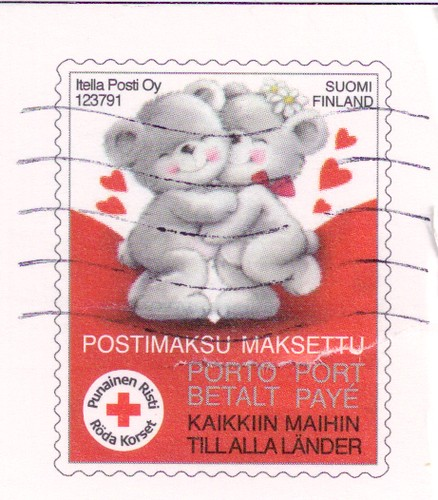 Red Cross Stamp Finland