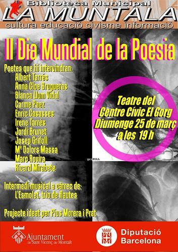 II Dia Mundial de la Poesia @ Sant Vicenç de Montalt 25 març 2012 19 h. by bibliotecalamuntala