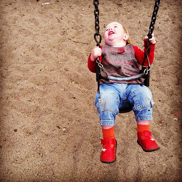 Extreme joy... #playground #swing #love