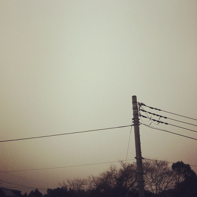 snowing sky