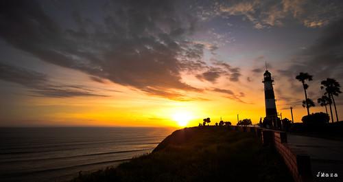 sunset costa lighthouse beach peru faro atardecer mar nikon lima playa arena febrero miraflores costaverde d3100