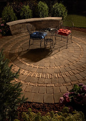 Round Patio with Inlay