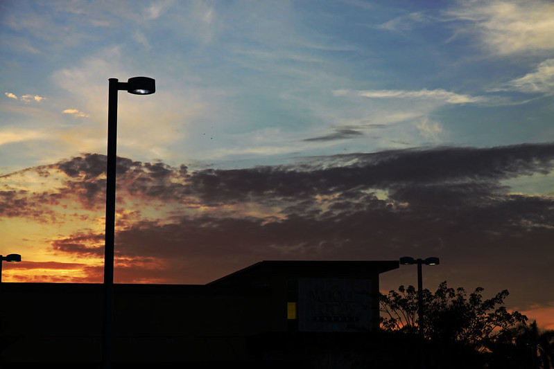 Whole Foods sunset silhouette