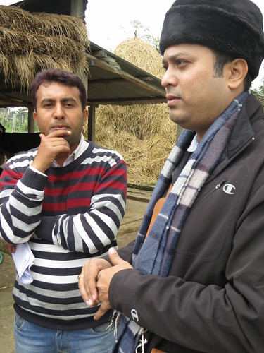 FORWARD's Deep Sapkota and ILRI's Arindam Samaddar in Nepal