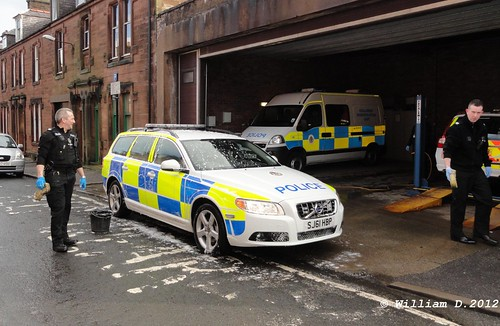Police Car being washed @ Dumfries police station garage.William D.2012