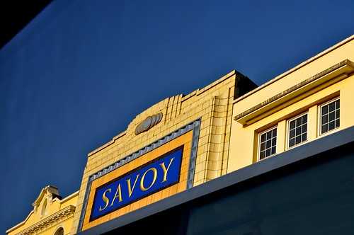 Cork - Savoy Theatre from bus -with another bus going by!