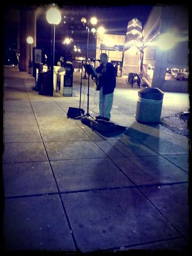 Huntington street musician