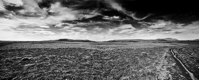 Rift Valley landscape (B&W)