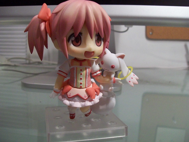 Madoka with Kyubey