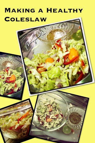 Making a Healthy Coleslaw