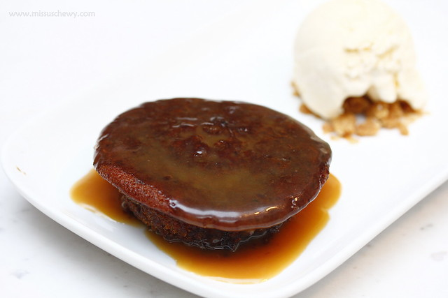 Sticky Date and Toffee Pudding, $12