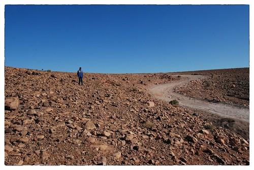 Steenwoestijn bij Ouarzazate