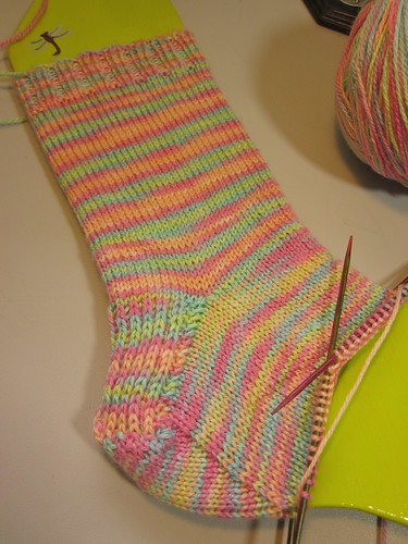 Cinco de Mayo Sock: WIP